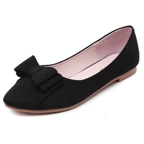 flat shoes next siketu s classic pointy toe flat shoes with bowknot