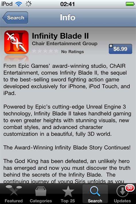 infinity blade play store infinity blade ii akhirnya dirilis jagat play