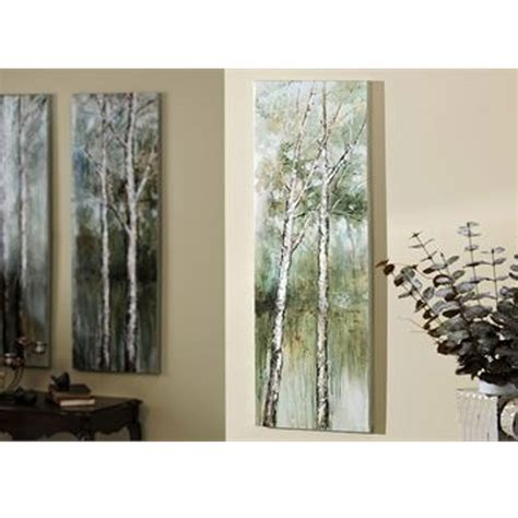 gift craft home decor giftcraft 083911 birch tree design canvas wall art hope