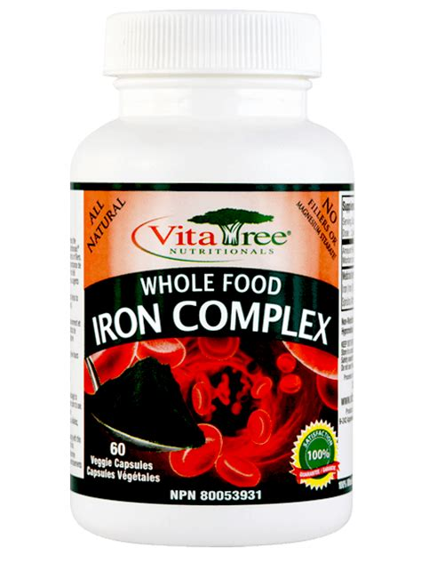 Vitatree Detox Ingredients by Whole Food Iron Supplements