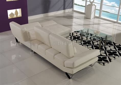 off white sectional u1350 sectional sofa in off white bonded leather by global