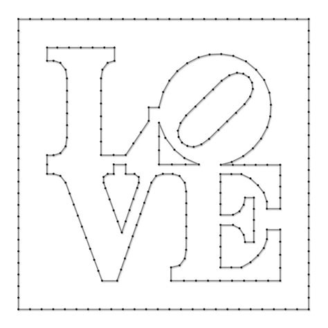 How To Make String Patterns - string pattern sheet designed by robert indiana