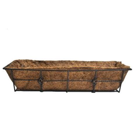 cobraco antoinette 7 in steel deck rail planter dpbant24