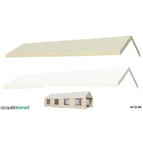 copertura per gazebo in pvc impermeabile telo gazebo 4x10 mt top copertura in pvc ecr 249 260 g mq