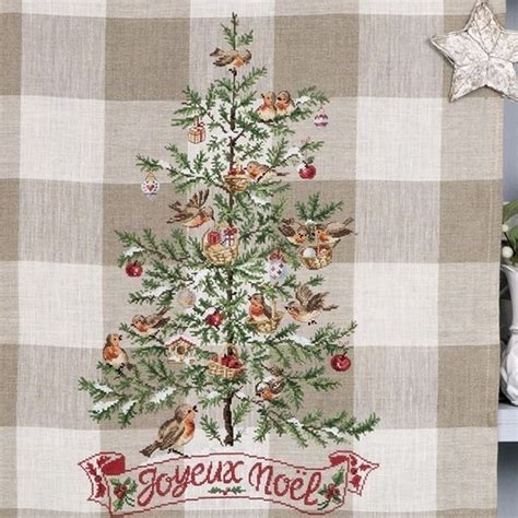 point de croix xmas aida 171 my beautiful tree 187 tea towel les brodeuses parisiennes