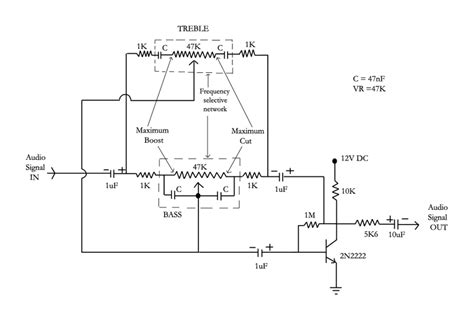 bass treble circuit diagram active tone circuit with circuit diagram circuit