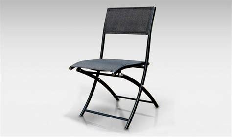 chaise pliante jardin chaise de jardin pliante alu textilene dcb noir mat