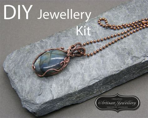 wire jewelry kits diy jewelry kit wire wrapped necklace cabochon setting