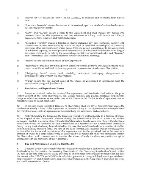 Canada Shareholder Buy Sell Agreement Promissory Note Method Legal Forms And Business Shareholder Promissory Note Template