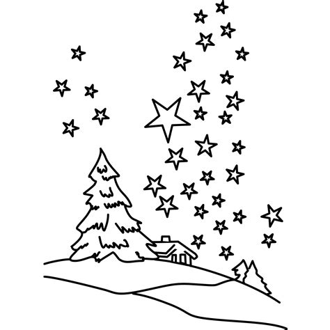snow landscape coloring page winter landscape coloring pages