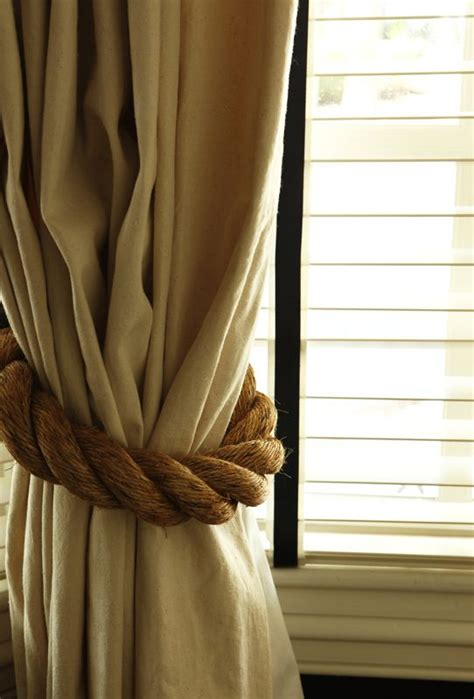 Rope Tiebacks For Curtains Rope Tie Backs Furniture And Accessories Pinterest