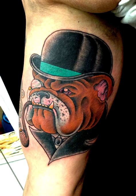british tattoos dogs englishbulldog bulldog tattoos