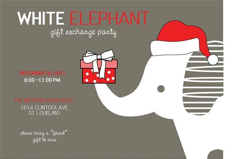 Free Christmas Exchange Cliparts Download Free Clip Art Free Clip Art On Clipart Library Free White Elephant Invitation Template
