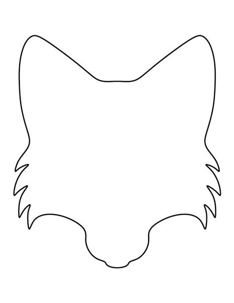 printable animal outlines fox face pattern use the printable outline for crafts