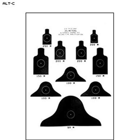 printable military rifle targets law enforcement targets action target m16 alternate quot c