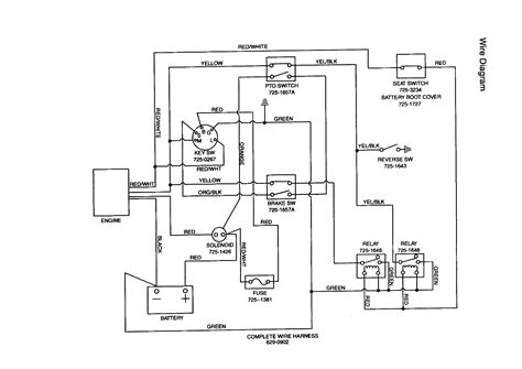 wiring diagram for huskee lawn tractor mtd lawn mower wiring diagram wiring diagram with