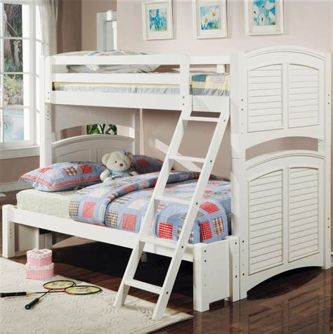 white full size loft bed bunk beds