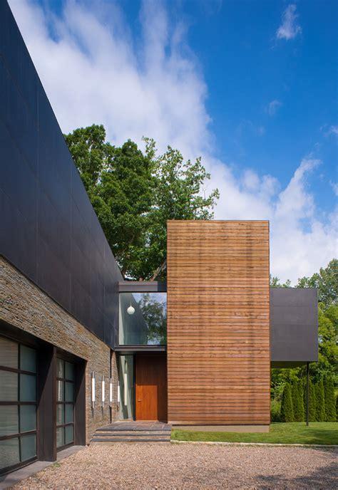 glass box house modern box house with interior glass bridges