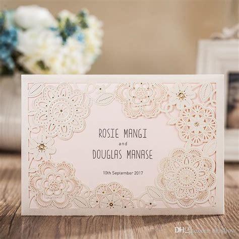 Custom Made Wedding Invitations by 2017 New Custom Made Wedding Invitations Cards Laser Cut