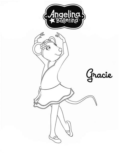 get this printable angelina ballerina coloring pages