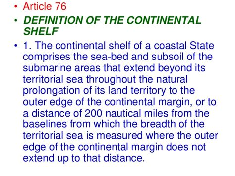 Meaning Of Shelf by Continental Shelf