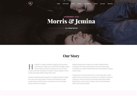Couples Free Web Wedding Website Template Personal Ease Template