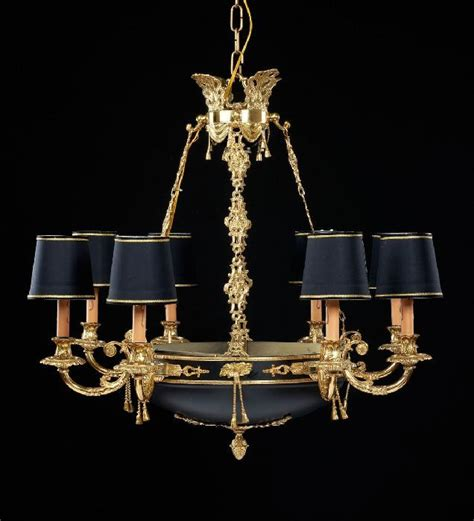 Chandelier With Black Shades Check Out This 8 Light Gold Chandelier With Black Shades 163 2 558 40 To Find Out More