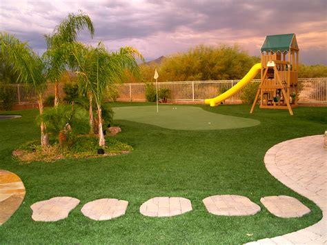 putting greens synthetic golf turf  az  grass