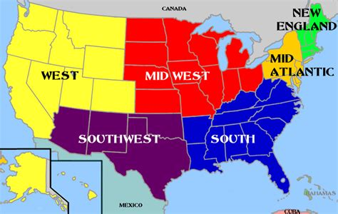 Usa Map With Regions