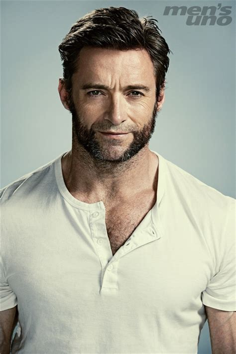 young man with beard wallpaper 休傑克曼 漫畫英雄 the wolverine is back 2013年6月 men s uno男人誌 時尚雜誌