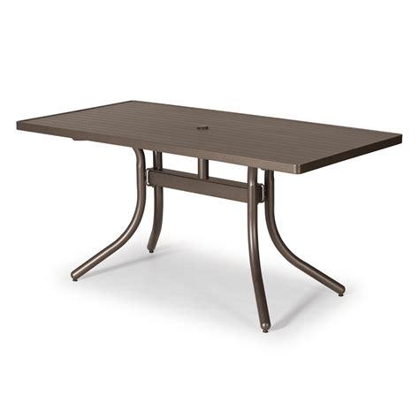 30 X 60 Dining Table Telescope Casual 30 Quot X 60 Quot Rectangular Aluminum Slat Dining Table 3260 5880leg