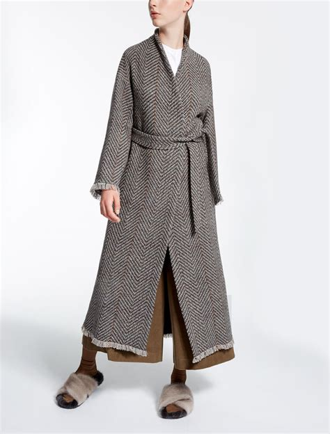 Tweed Coat wool tweed coat brown quot legno quot max mara