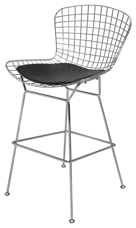 Wire Back Bar Stools by Wire Back Barstool Black Bar Stools And