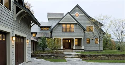 shingle style home shingle style home drive court to entry elevation
