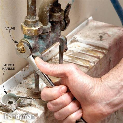 How To Fix A Leaking Faucet In The Bathroom by Fix A Leaking Faucet Family Handyman