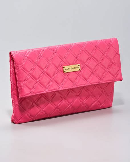 Marc Quilted Eugenie Purse by Marc Eugenie Quilted Leather Clutch Large