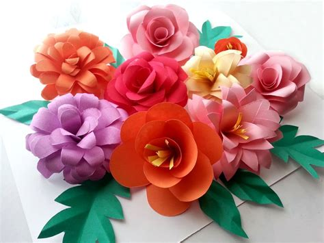 Show How To Make Paper Flowers - everything s blooming sized and beautiful and