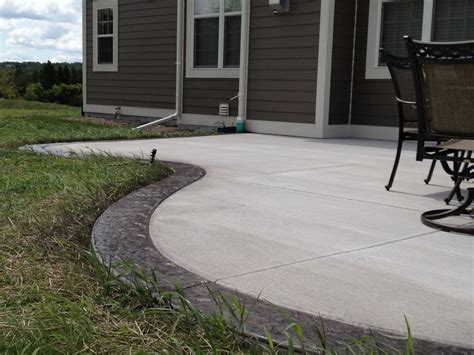 cement backyard concrete contractor in pewaukee wi patios sidewalks