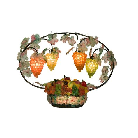 x fruit ltd vintage italian glass fruit basket light at 1stdibs