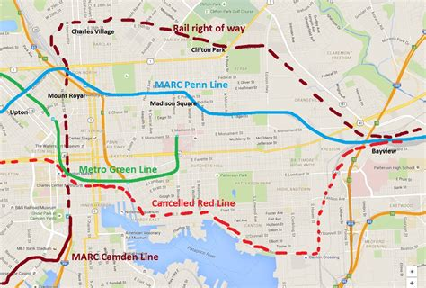 marc map there s a plan for more rail options in baltimore and it doesn t involve the line