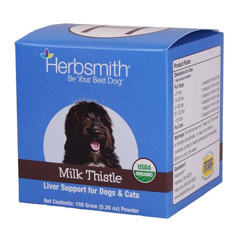 is milk for dogs herbsmith milk thistle powder for dogs and cats 150 grams naturalpetwarehouse