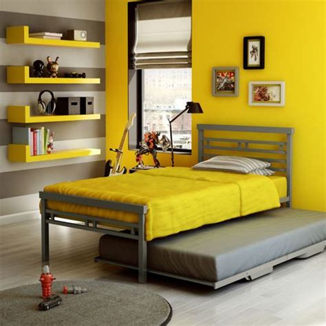 boys twin bed frame oliver gray twin metal bed with trundle kid beds