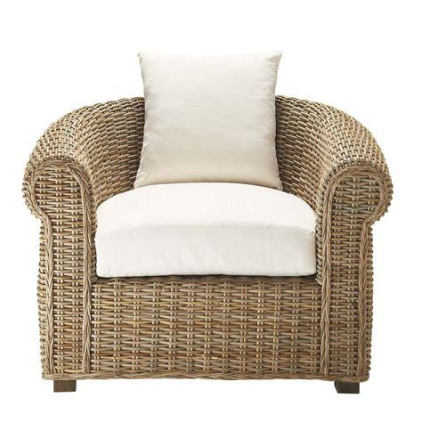 rattan armchairs kubu rattan armchair ste maxime maisons du monde