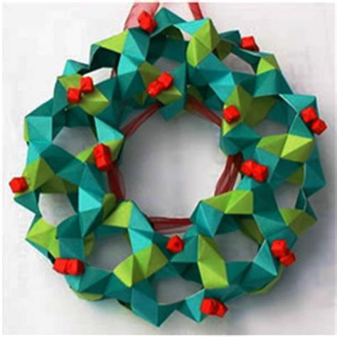 How To Make A Origami Wreath - origami wreath and garland