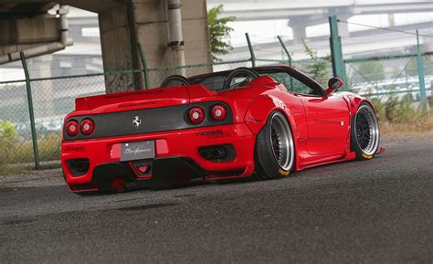 widebody ferrari liberty walk reveals wide body ferrari f360 carscoops
