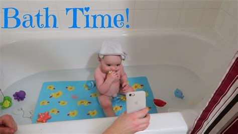 bathtub for 7 month old 9 month old a day in the life bath time routine youtube