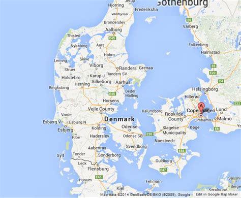 denmark on map copenhagen on map of denmark
