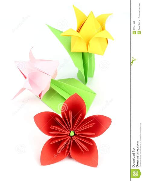 japanese origami flowers origami flower stock photography image 36342942