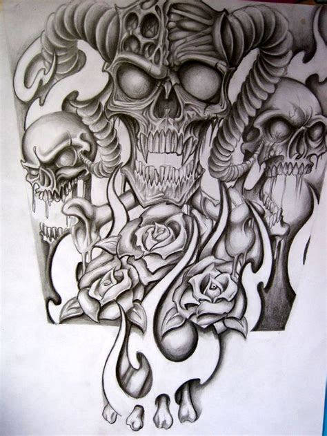 skull full sleeve tattoo designs skull half sleeve designs half sleeve for a