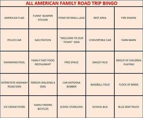 Backyard Darts Family Travel Bingo The Family Fun Blog Site